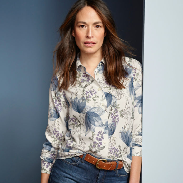 Long-Sleeved Everyday Silk Shirt -  image number 5