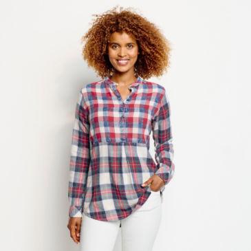 Washed Indigo Mixed Pattern Shirt -