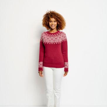 Two-Tone Fair Isle Sweater -