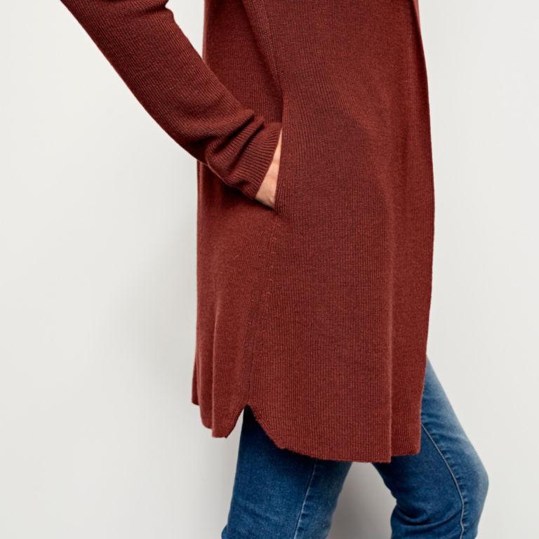 Merino/COOLMAX® Long Open Cardigan -  image number 4
