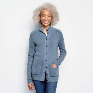 Garment-Dyed Cashmere Cardigan -