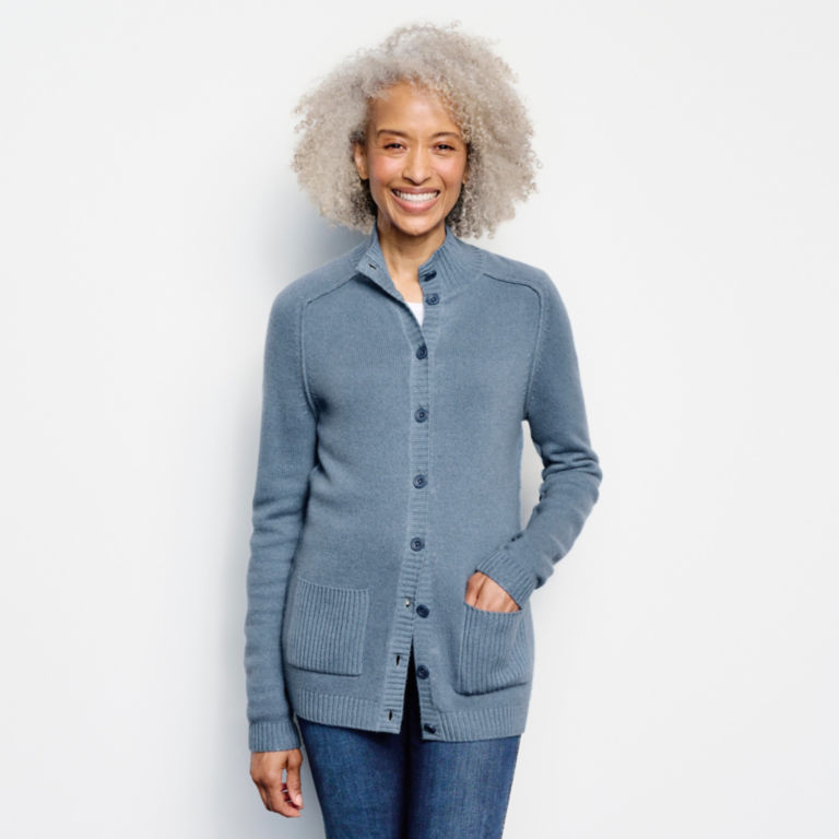 Garment-Dyed Cashmere Cardigan -  image number 0