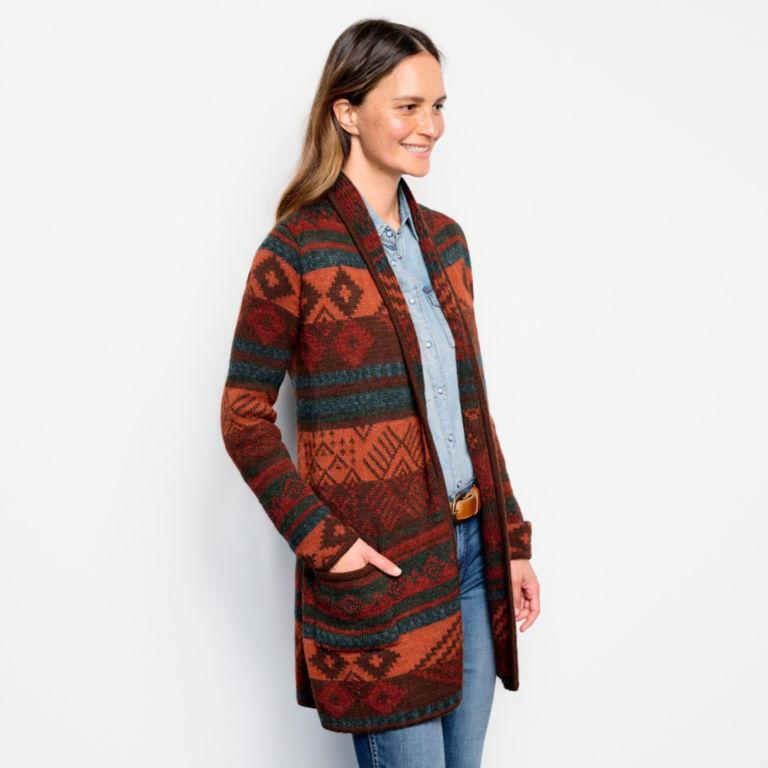 Alpaca Blanket Stripe Cardigan - ADOBE MULTI image number 2