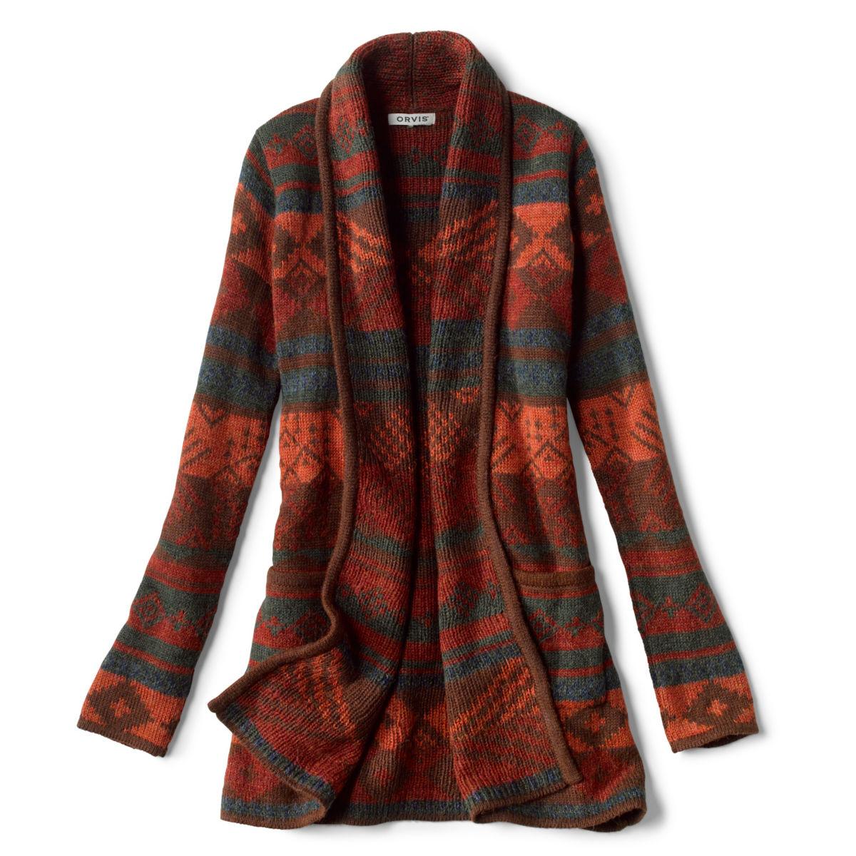 Alpaca Blanket Stripe Cardigan - ADOBE MULTIimage number 0