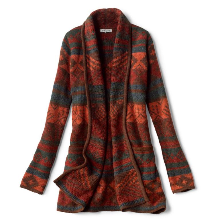 Alpaca Blanket Stripe Cardigan - ADOBE MULTI image number 0