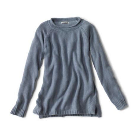 laydown of Garment-Dyed Easy Crew Sweater