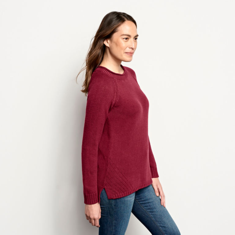 Garment-Dyed Easy Crew Sweater -  image number 1