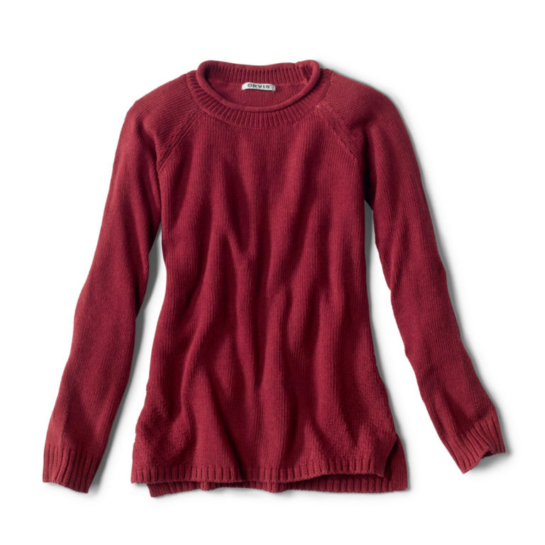 Garment-Dyed Easy Crew Sweater -  image number 5