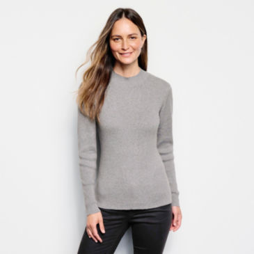 Classic Mockneck Ribbed Sweater -