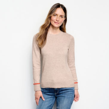 Classic Tipped Crew Sweater -