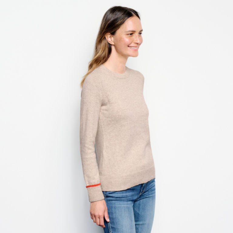 Classic Tipped Crew Sweater -  image number 1