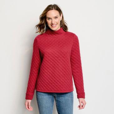 Quilted Mockneck Sweatshirt -