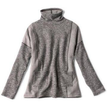 Mixed-Knit Mockneck Sweatshirt - HEATHERED GRAY image number 0