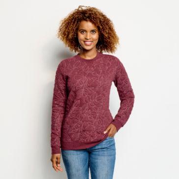 Jacquard Crew Sweatshirt -