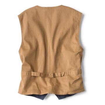 Corduroy/Twill Stretch Vest - INDIGO image number 1