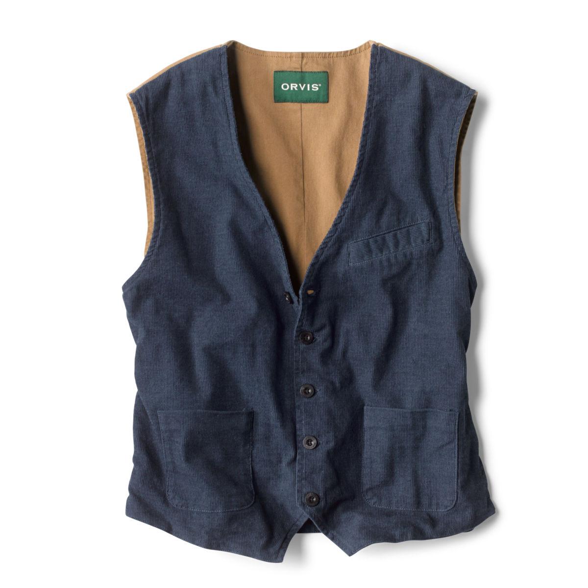 Corduroy/Twill Stretch Vest - INDIGOimage number 0