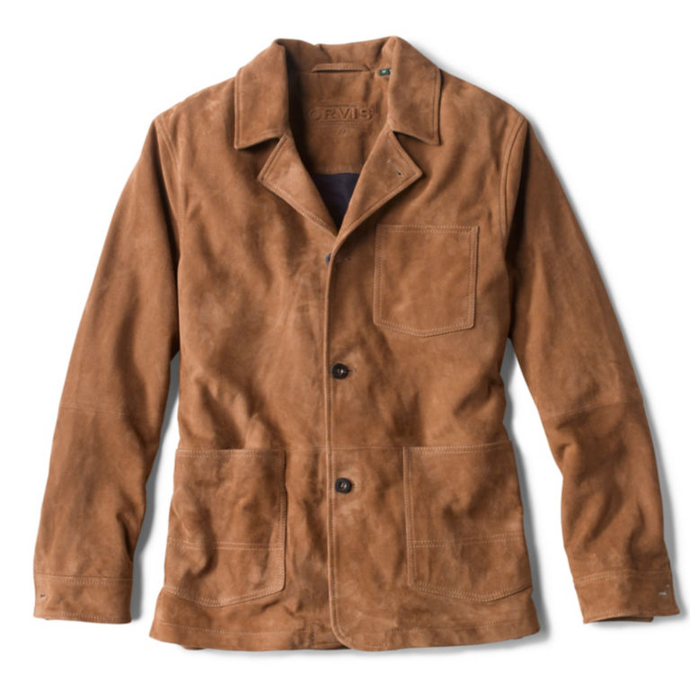 Classic Suede Jacket - CAMEL image number 0
