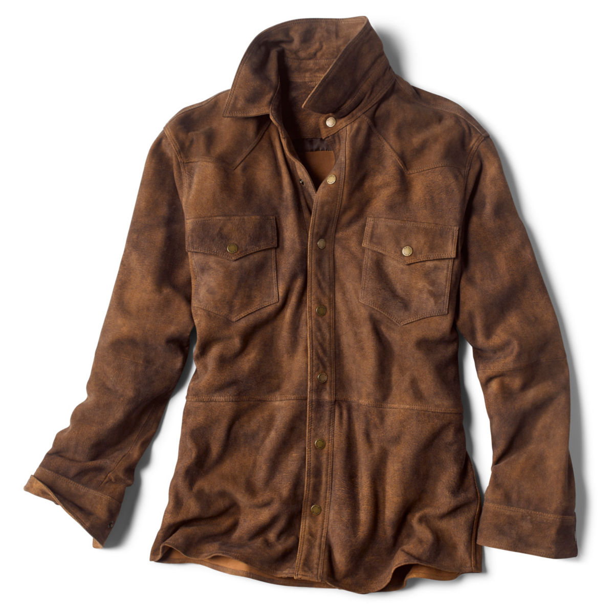 Cross Trails Suede Overshirt - MEDIUM BROWNimage number 0