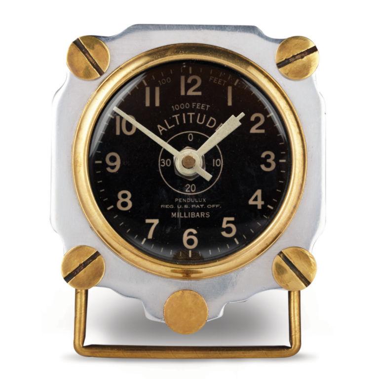 Aluminum Altimeter Clock -  image number 1