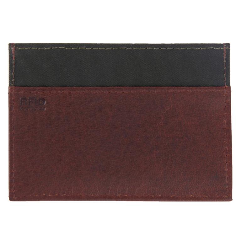 Barbour® Wax/Leather Cardholder - OLIVE image number 1