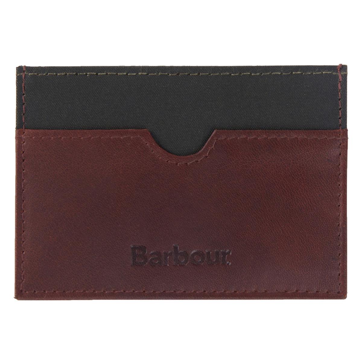 Barbour® Wax/Leather Cardholder - OLIVEimage number 0