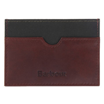 Barbour® Wax/Leather Cardholder - OLIVE image number 0
