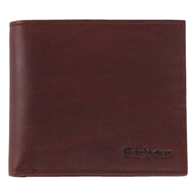 Barbour® Wax/Leather Wallet - OLIVE image number 0