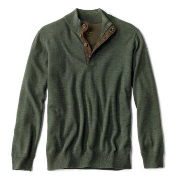 Merino Button Mockneck Sweater -
