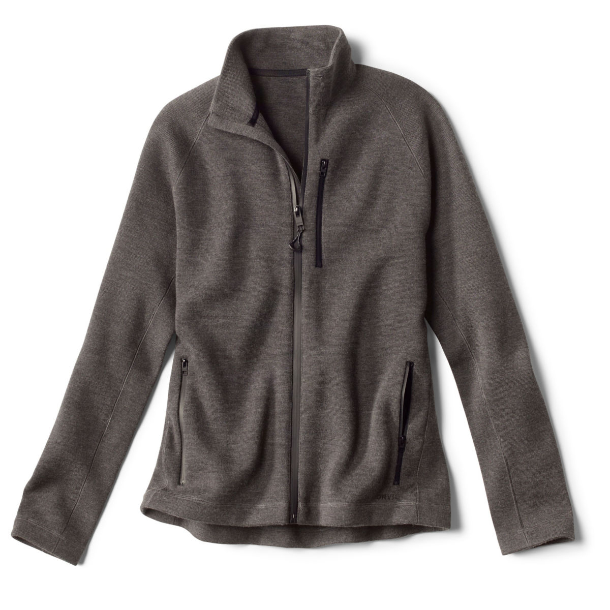 Lewiston Merino Full-Zip Sweater - CHARCOALimage number 0