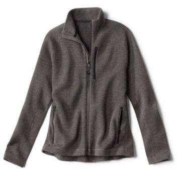 Lewiston Merino Full-Zip Sweater - CHARCOAL image number 0