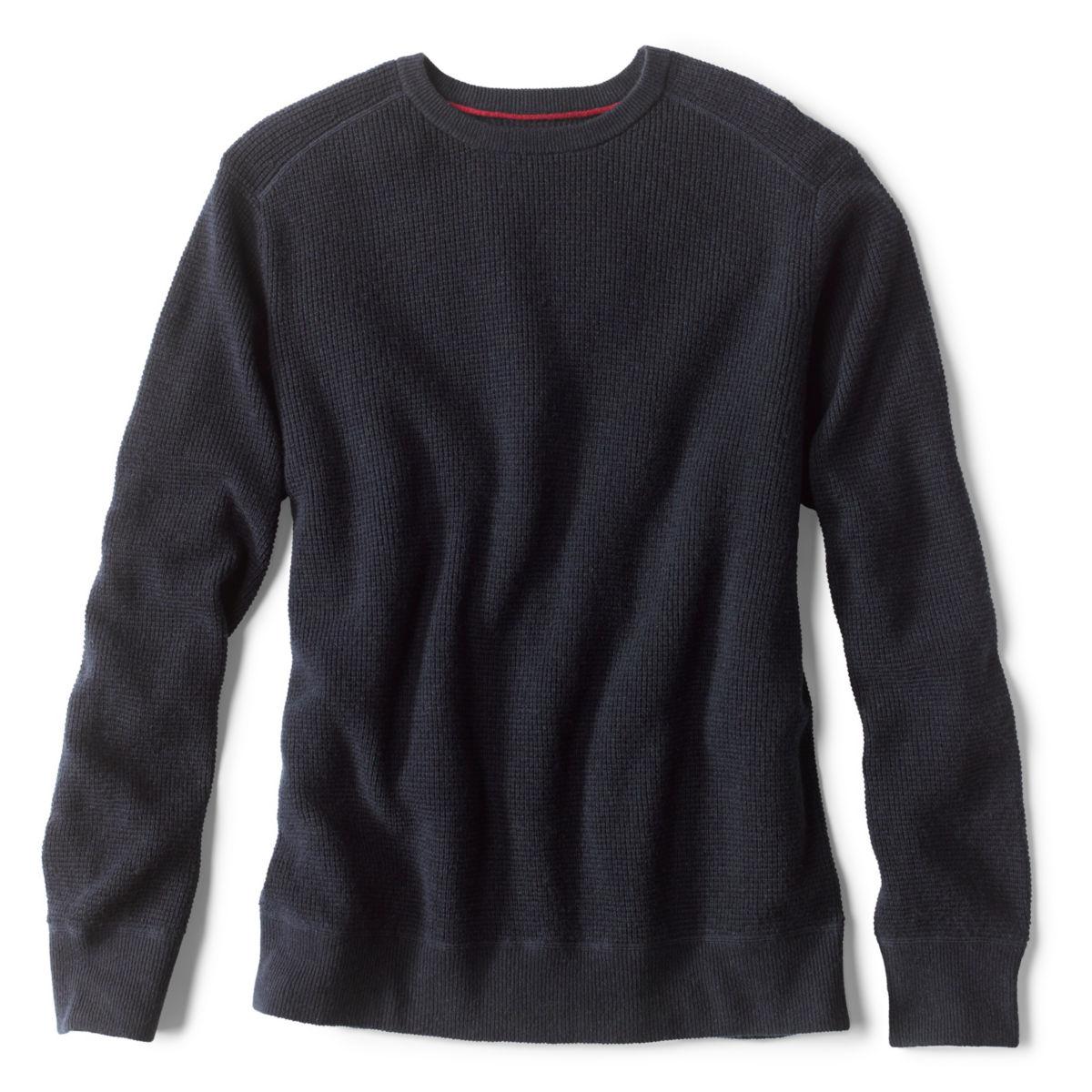 Waffle Crewneck Sweater - NAVYimage number 0