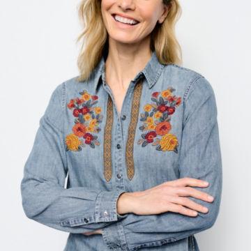 Multi Embroidered Denim Shirt -  image number 4