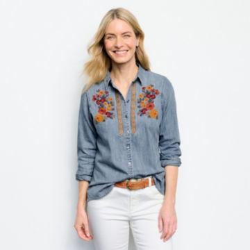 Multi Embroidered Denim Shirt -  image number 3