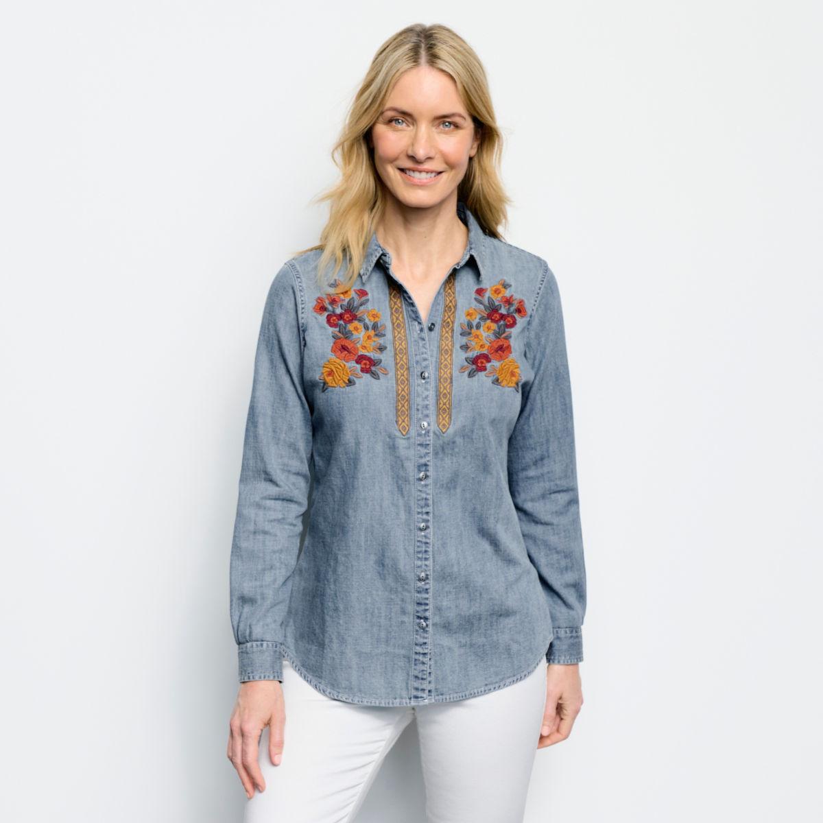 Multi Embroidered Denim Shirt - image number 0