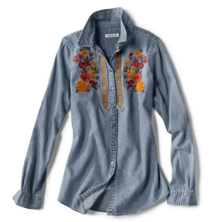 Multi Embroidered Denim Shirt -  image number 5
