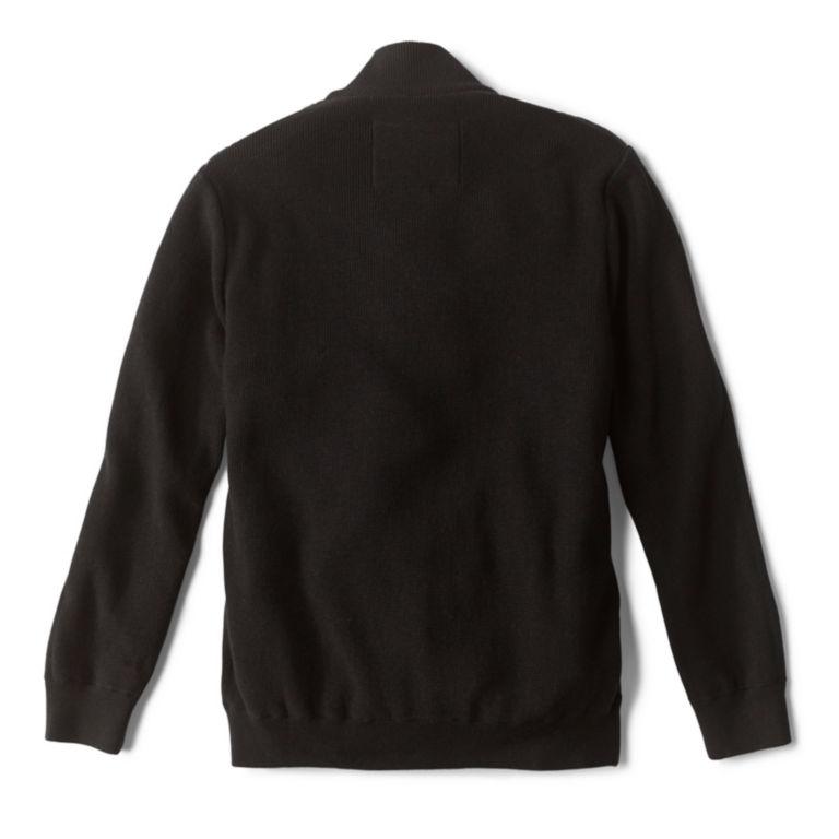 Alpine Full-Zip Sweater - BLACK image number 1