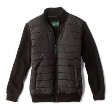 Alpine Full-Zip Sweater - BLACK image number 0