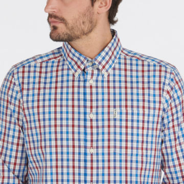 Barbour® Hallhill Performance Shirt - RED image number 3