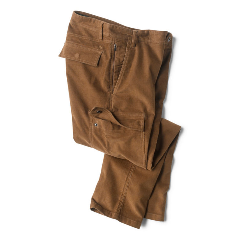Stretch Corduroy Cargo Pants - TOBACCO image number 2