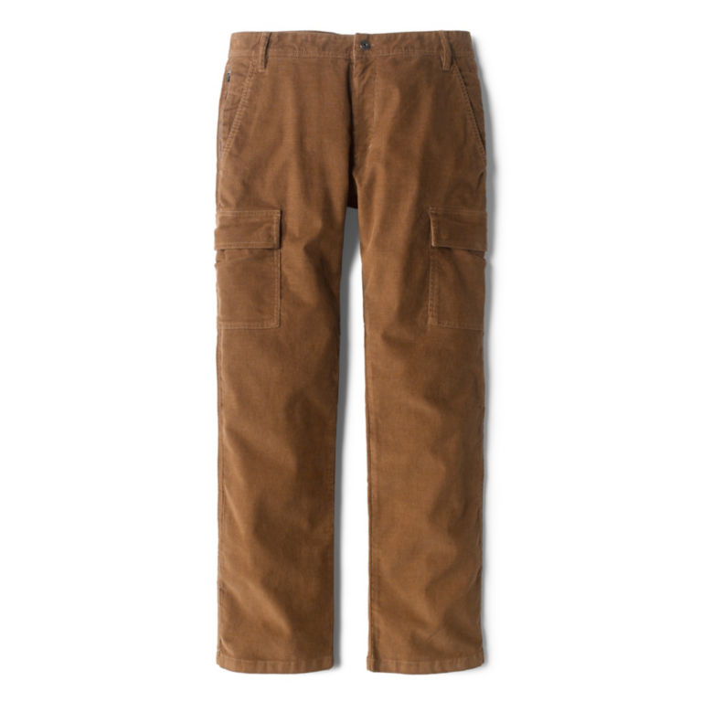Stretch Corduroy Cargo Pants - TOBACCO image number 0