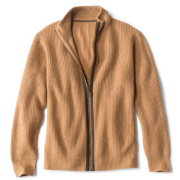 Maidstone Cashmere Full-Zip Sweater - CAMEL image number 0