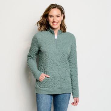 Jacquard Quarter-Zip Sweatshirt -