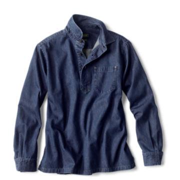 Denim Long-Sleeved Popover - DARK INDIGO image number 0