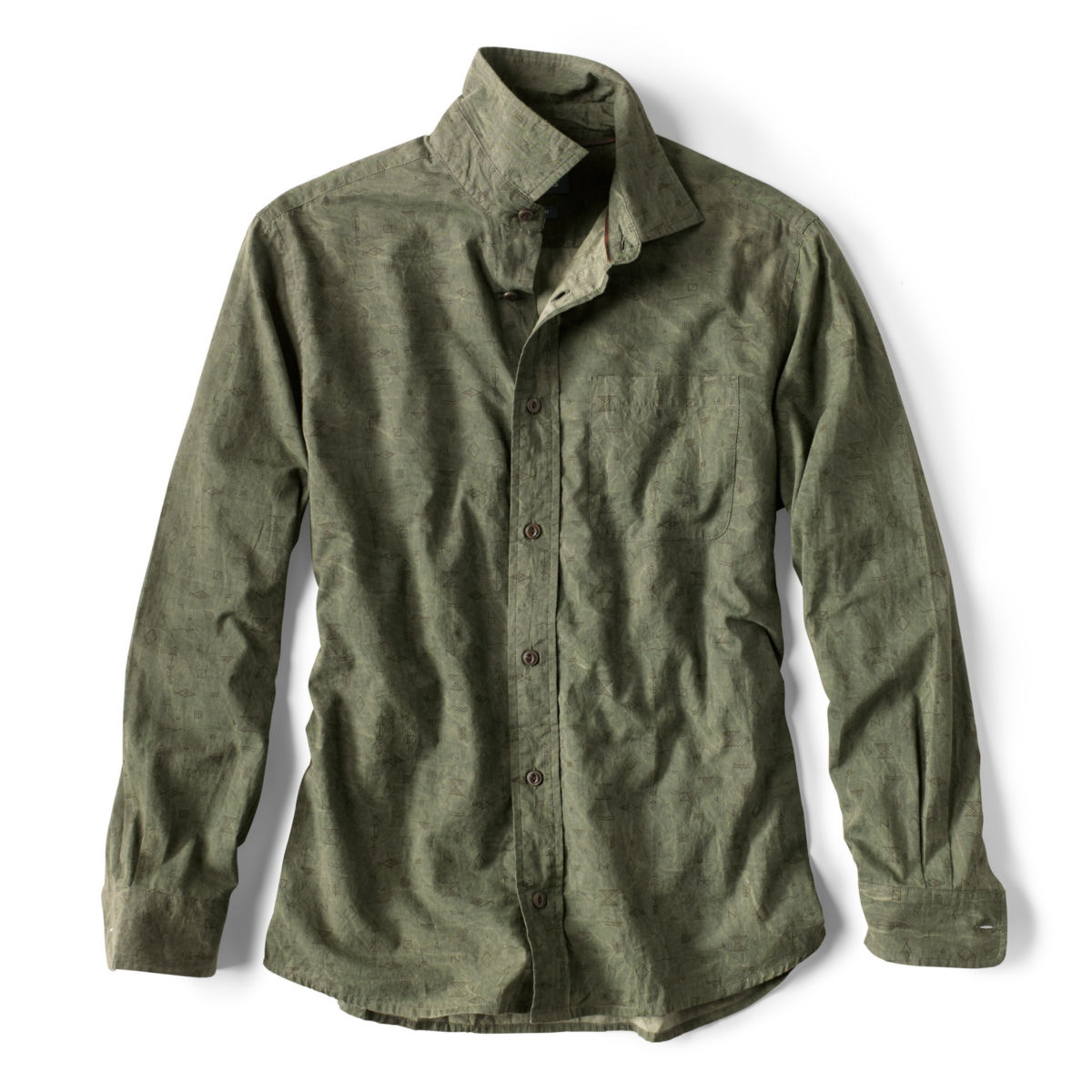 Western Symbols Long-Sleeved Shirt - JUNIPERimage number 0