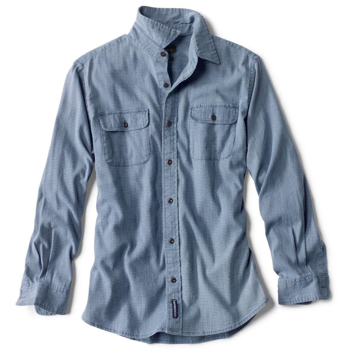 Indigo Houndstooth Comfort Shirt - LIGHT INDIGOimage number 0