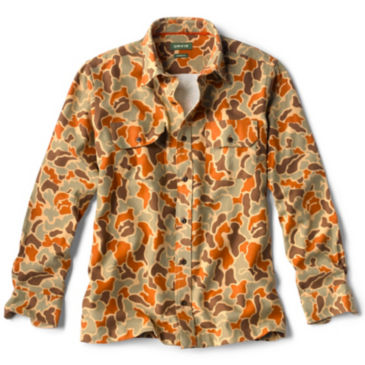 Orvis Camo-Printed Flannel Long-Sleeved Shirt -