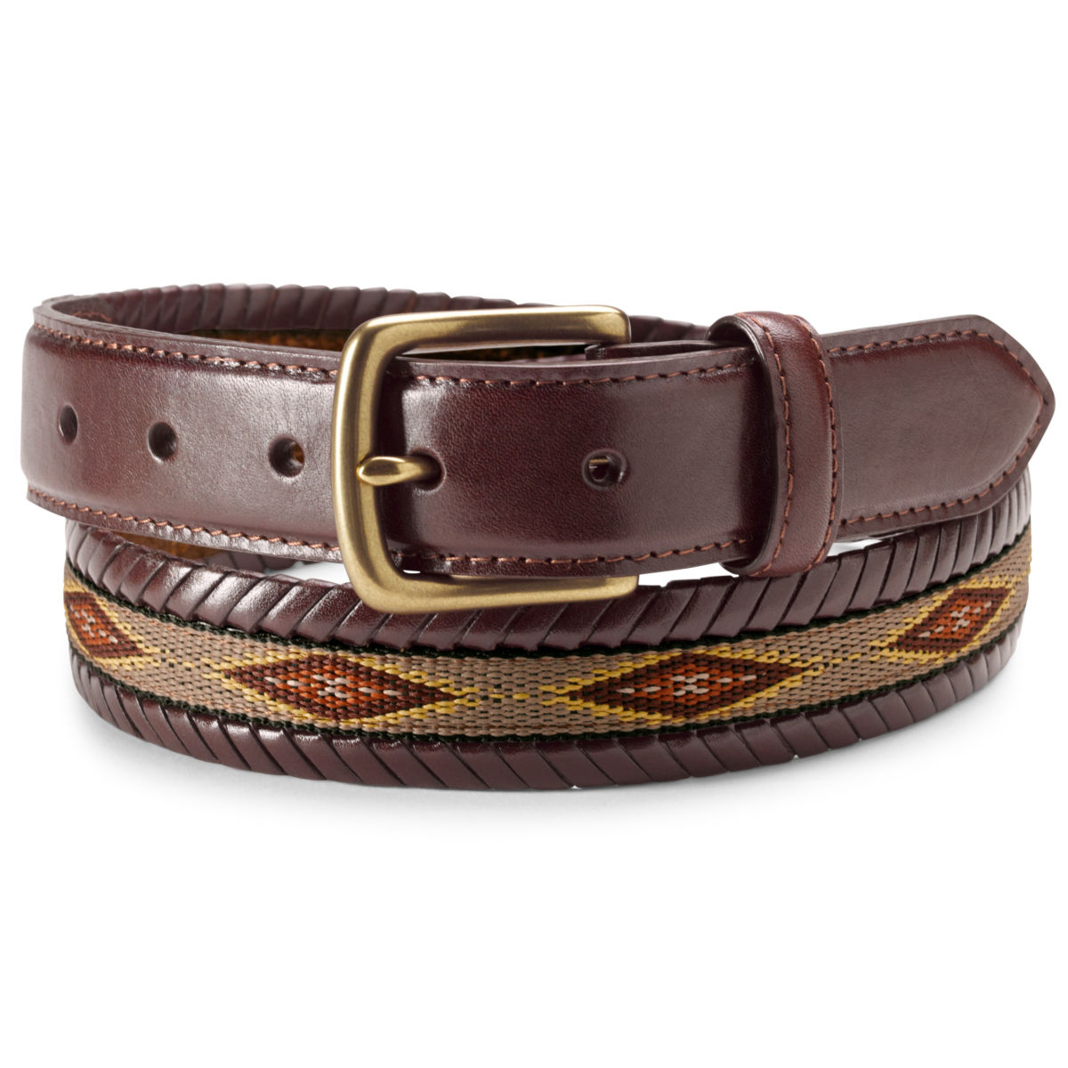 Latigo Laced Ribbon Belt - BROWNimage number 0