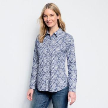 Printed Chambray Shirt -