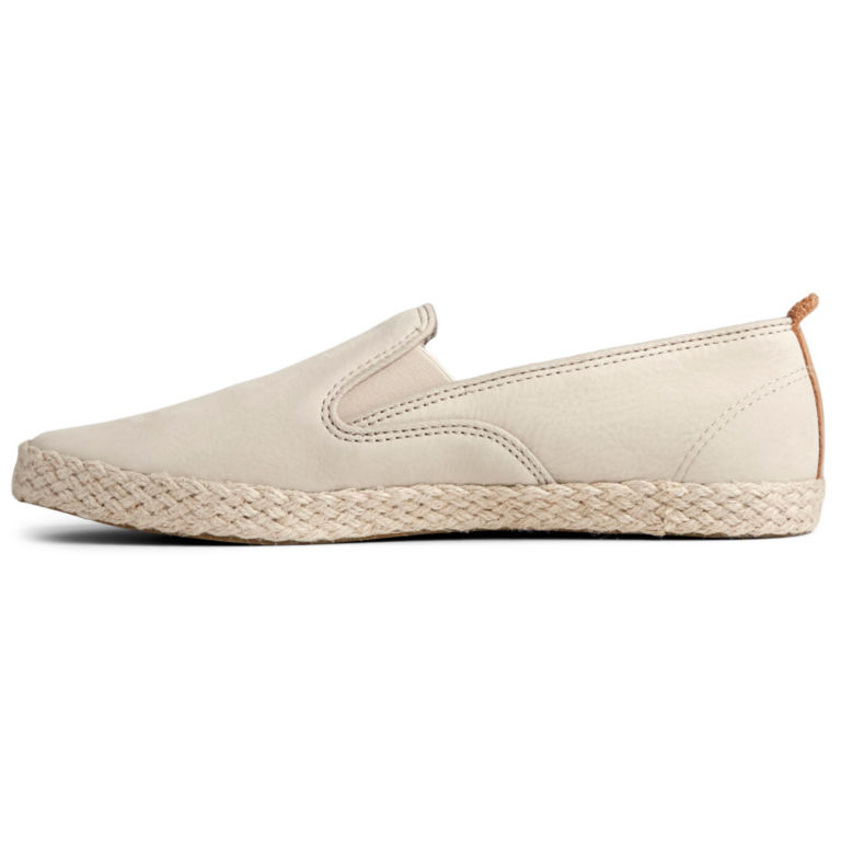 Sperry® Twin-Gore Leather/Jute Slip-Ons -  image number 1