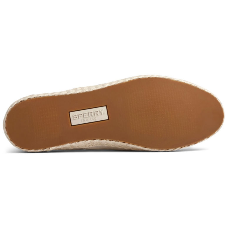 Sperry® Twin-Gore Leather/Jute Slip-Ons -  image number 4